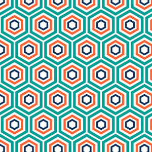 Trippy Hexagons Soft Green