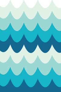 Blue Curtain Waves