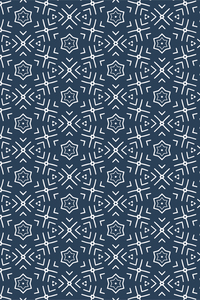 Blue White Benzene Pattern