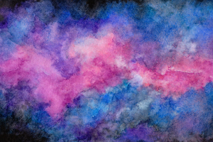 Watercolor Space Illustration