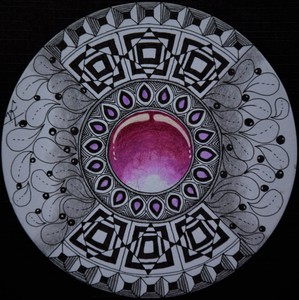 Pink Gem Zentangle