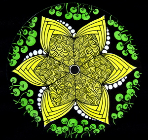 Yellow Flower Zentangle