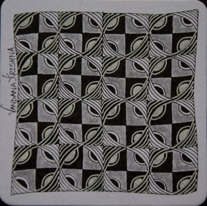 Chessboard Zentangle