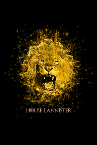 House Lannister Lion On Black
