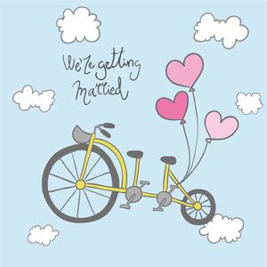 Getting Married Cycle On Blue