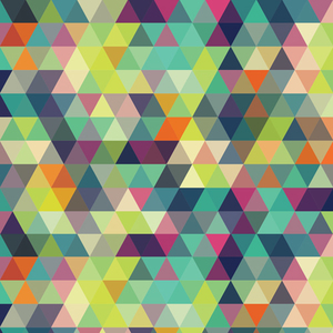 Trippy Triangles Multicolor