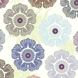 Multicolor Cut Flowers Pattern