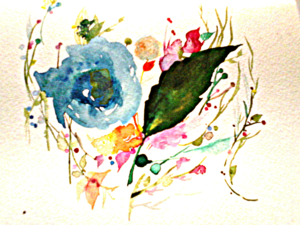 White Watercolor Floral Illustration