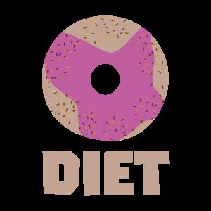 Donut For Diet On Black