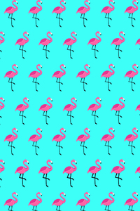 Flamingo On Blue