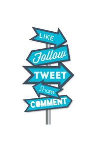 Social Media Like Follow Tweet Share Comment