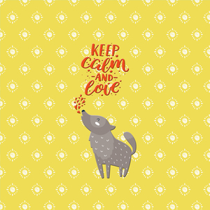 Keep Calm And Love Wolf Animal Fun And Saying