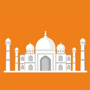 Taj Mahal On Orange