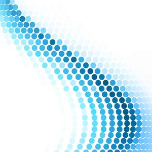 Blue Polka Helix