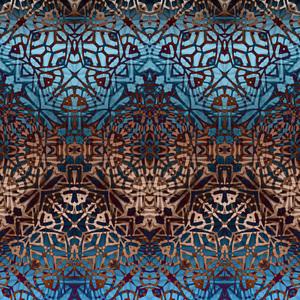 Ethnic Rust Tribal Pattern