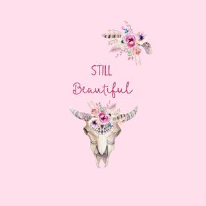 Still Beautiful Deer Skull And Flowers