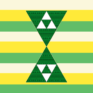 Triangles On Cool Pattern Yellow Green
