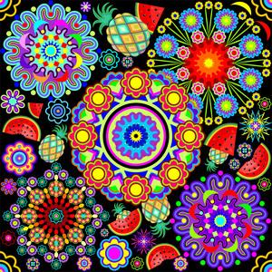Mandalas And Exotic Fruits