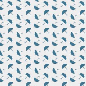 Blue Umbrellas On White