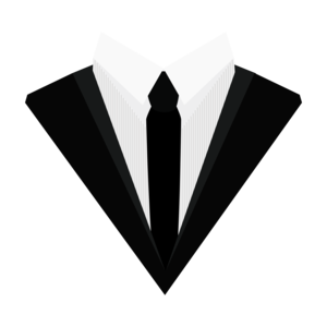 Black Tuxedo Suit With Bow Tie