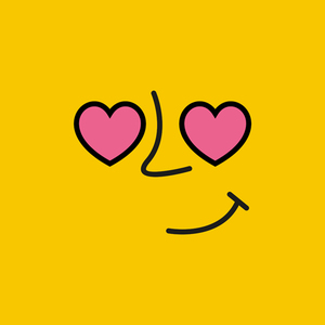 Emoticon 1 On Yellow