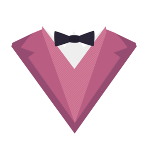 Pink Tuxedo Suit With Bow Tie