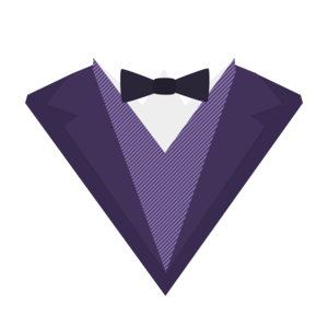 Violet Tuxedo Suit With Bow Tie