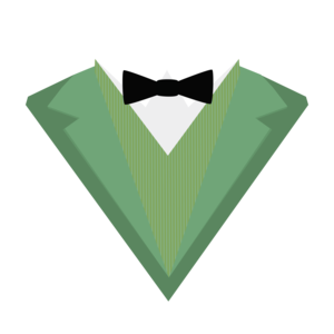 Green Tuxedo Suit With Bow Tie