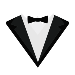 Black Tuxedo Suit With Bow Tie 2