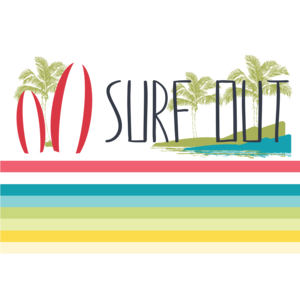Surf Out With Multicolor Stripes