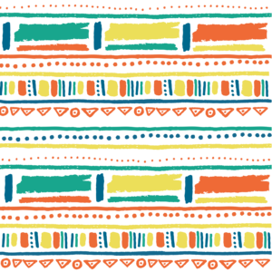Crayons Style Scribbled Aztec