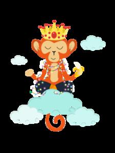Om King Monkey Meditation In Clouds