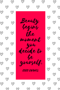 Beauty Quote By Coco Chanel On Red