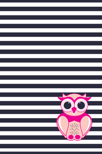 Owl On Navy Blue Stripes