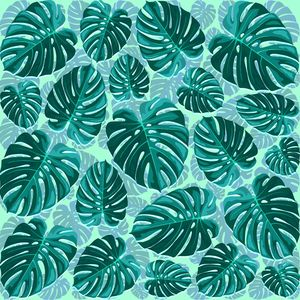 Tropical Leaf Monstera Pattern