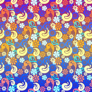 Lovely Colorful Floral Pattern