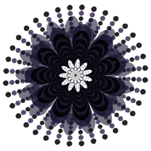 Graphic Mandala Flower Lilac