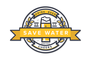 Save Water Drink Beer On White