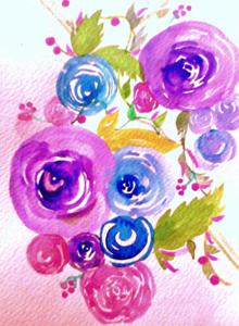 Blue Floral Pattern 2