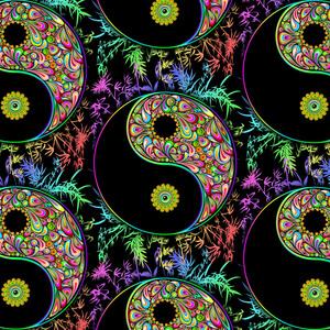 Yin Yang Bamboo Psychedelic