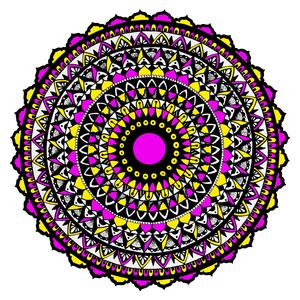 Yellow And Pink Mandala