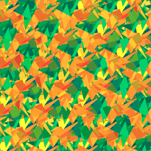 Orange Green Abstract Pattern