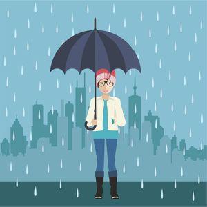 Girl In Rainy Season