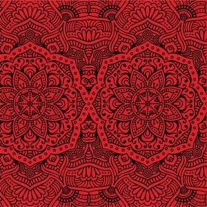 Ornamental Design On Red