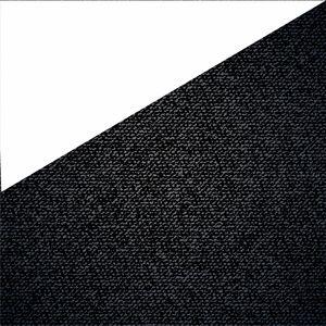 Half Black Denim Print