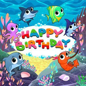 Underwater Happy Birthday