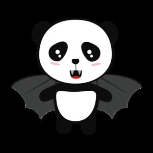 Vampire Panda With Wings