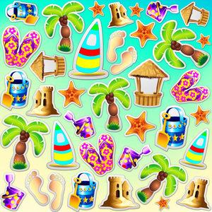 Beach Life Summer Fun Pattern