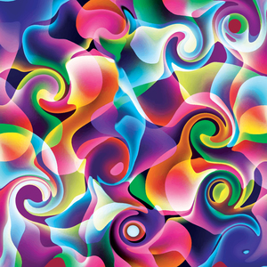 Blue Pink Colorful Abstract Swirls