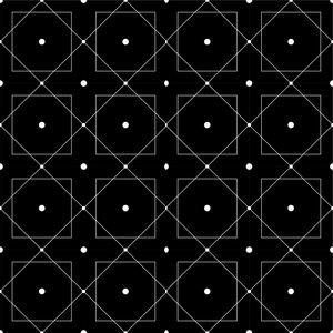 Square Dots On Black